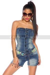 Jeans-Overall 13268 - www. Dessous Shop, Jeans Overall, Trends, Catsuit, Farmer, Jumpsuit, Spandex, Jumpers, Fashion