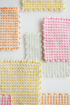 I remember making these every time we visited family in Pennsylvania. So much fun!! Pin Loom Coasters