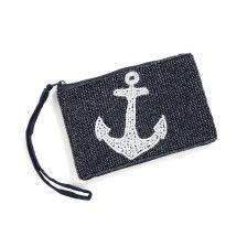 A mini clutch expertly beaded in a beautiful maritime design! Perfect for carrying your everyday favorites whether you're out for lunch or cruising around town.