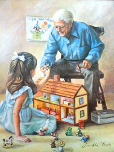 Grampa and the new Dollhouse! sandra kuck