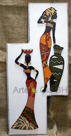 artesanato africana pintura madeira mdf                                                                                                                                                                                 Mais