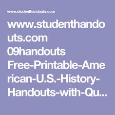 www.studenthandouts.com 09handouts Free-Printable-American-U.S.-History-Handouts-with-Questions 10.05-The-Booming-1920s.htm