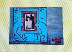 Keith at home (Broken Windows series) 2014 cm 25×35 #inkonpaper #acryliconpaper #collageonpaper #drawing #keithharing #brokenwindows #illustration #figurativeart #monacoart #paperpaint #paperart #popart