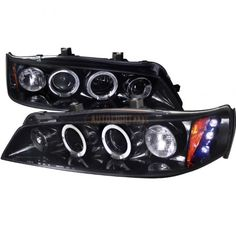 Spec-D 2LHP-ACD94G-TM | 1997 Honda Accord Smoke Projector Headlights for Coupe/Sedan/Hatchback/Wagon