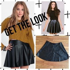 NWOT Faux Leather Mini Skater Skirt NWOT faux leather skater skirt from the brand Iris.  Size large, but runs a bit small. So could fit a medium as well Iris Skirts Circle & Skater