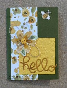 English Garden DSP and Garden in Bloom stamps #Stampin'Up!