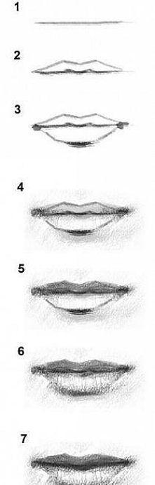 jak narysowac usta