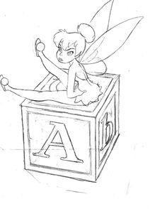 Even when she was just a sketch, Tinker Bell had sass.