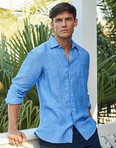 Men's LINEN SHIRT from Crew Clothing Company