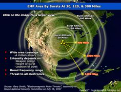 A high altitude nuclear explosion above the USA would immediately resemble a blackout. The EMP would damage & destroy power systems across most of North America, leaving them inoperable for months, or likely, much longer. A single EMP attack could degrade at least 70% of the Nation's electrical service, in one instant, bringing down the whole grid and cost several trillion dollar to repair, and that's just the money cost. Full Main Street financial and utility recovery could take up to 10…