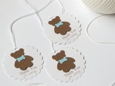 Boy baby shower thank you tags Blue baby boy by WildSugarberries, $9.50