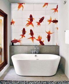 fish | wow | lever beeld aan via shutterstock.com en wij laten het voor u op tegels branden, badkamer en schoonmaakbestendig | mozaiek utrecht