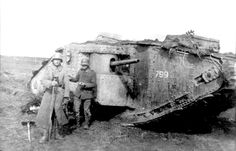 "Captured British Mk I ""male"" tank"