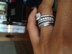 different band for each child to add to your wedding ring-LOVE this idea!