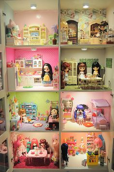 Current dolly cabinet by JeffC75 ~ I want something like this!! #doll #blythe #dollhouse