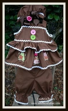 Gingerbread Girl Set Pageant OOC Casual Holiday Theme WEar via Etsy
