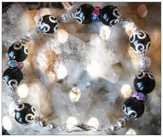Beautiful Handmade Silver Bracelet with Black Onyx by IreneDesign2011 in my Etsy shop https://www.etsy.com/listing/179399104