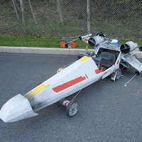 For the 2011 Nazareth Adult Soapbox Derb y I wanted to design a car that people would like and made me feel heroic. So I decided I would model it after one of the most important vehicles of our nation's history: the T-65 X-wing fighter.