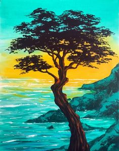 Madrona Cove tree painting