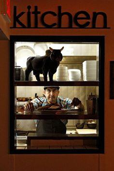 Corazon y Miel: Chef Eduardo Ruiz at the kitchens service window. Los Angeles Food, Respect, Restaurants, Kitchens, Scene, Window, Windows, Restaurant, Kitchen
