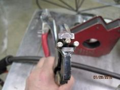 Fluting Pliers Homemade fluting pliers constructed from a pair of locking pliers and steel pins