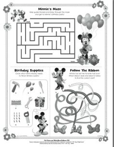 activities for kids minnie mouse coloring pagesmickey