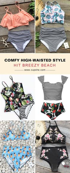 ac92be91a2 Trending Swimwear 2018   Short Shipping Time! Easy Return + Refund! New  High-waisted swimwear is certainl…