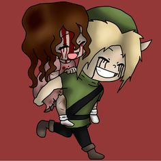 BEN and Sally - a common ship for creepypasta. I don't ship it but I had a request. I also thought it was cute! ^-^