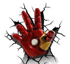 Luminária Mão Homem de Ferro  #luminariahomemdeferro #luminariasdeled #luminarias #luminariaironman