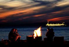 Bonfires at Alki Beach. | Pacific Northwest | Pinterest | Bonfires ...