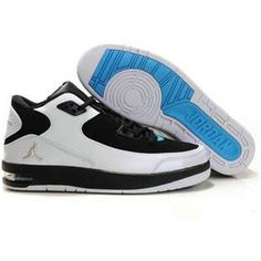 Air Jordan After Game - White Silver Black Blue