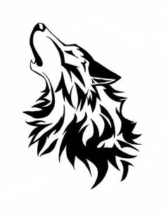 this is showing a wolf howling. there are many different layers of lines. yes because if it wasn't it wouldn't look like a wolf. I like it because it's a cool approach to a wolf. Lobo Tribal, Arte Tribal, Tribal Art, Tribal Wolf Tattoo, Wolf Tattoos, Tribal Tattoos, Celtic Tattoos, Wolf Stencil, Stencil Art