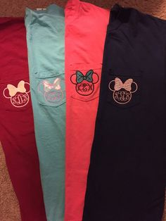 Minnie Bow Monogram Crew or V-Neck T-Shirt