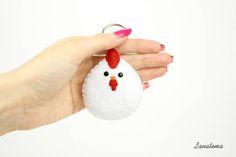 Llaveros llavero gallo del animal doméstico regalo para