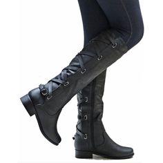 f10ba466a R$ 187.28  Tamanho grande 35 43 Mulheres Joelho Botas Altas Com Zíper  Motocicleta Botas de Salto Baixo Fivela Cruz Laço Sapatos de Plataforma Inverno  Botas ...