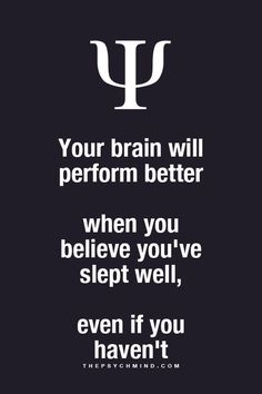 The power of mind..