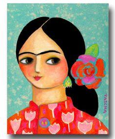 ORIGINAL acrylic portrait painting of FRIDA Kahlo in vibrant colours new art for… Acrylic Portrait Painting, Frida And Diego, Frida Art, Baby Drawing, Chicano Art, Historical Art, Mexican Folk Art, Pretty Art, Art Activities