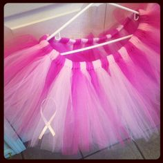 Adult Breast Cancer Awareness Runner's Pink Ribbon Tutu. Hot Pink and Pink Combination Susan G Koman or Americian Cancer Society Walks on Etsy, $26.00
