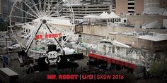Mr Robot at SXSW this weekend. #MrRobot #FSociety #ConeyIslandFerrisWheel #SXSW #Austin #Texas