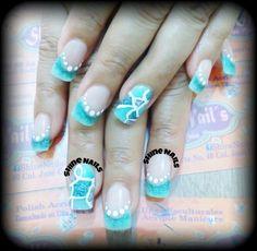 Marmoleado nails