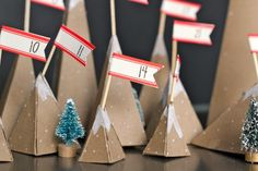 A miniature mountain advent calendar DIY. (Hint: There's a yeti included!)