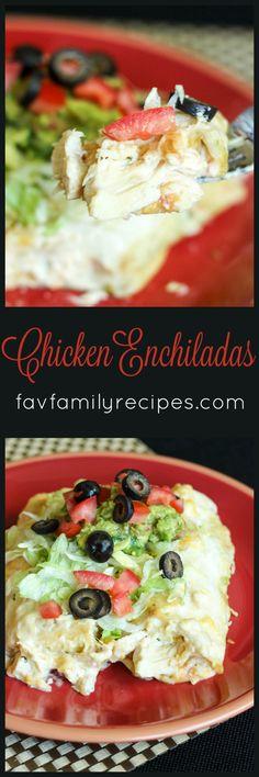 Chicken Enchiladas a
