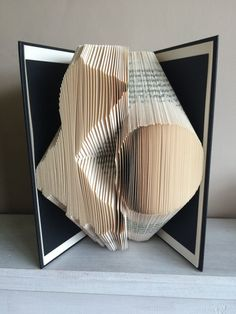 Book Folding Pattern, Book Art, Book Origami, -football/soccer by ThePageTurnerCompany on Etsy