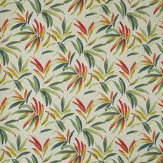 Malibu is a tropical extravaganza, with five funky prints in six sunny colourways. Flowing fronds, fan-shaped ginkgo leaves and scattered trails of eucalyptus are all interpreted in an exciting, vibrant style, supported by an abstract inky stripe. Curtain Material, Curtain Fabric, True Colors, Colours, Made To Measure Blinds, Prestigious Textiles, Floral Curtains, How To Make Curtains, Textile Fabrics