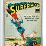 Superman Comic Book #7 CGC 5.5 White Pages Front