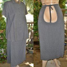 c72e96aef5b Vintage 50s 1950s I Love Lucy Style Gabardine Wool Blend Maternity  Pregnancy Dress Suit Skirt Blouse Top 42
