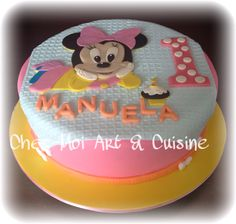 Baby Minnie 1st Birthday Cake