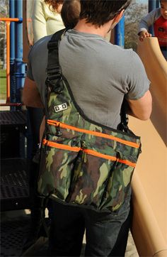cool camo diaper bag for dads ;)