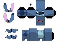 DeviantArt: More Collections Like Evil Ash Cubee part B by WrxStv Paper Crafts Origami, 3d Paper, Paper Toys, Paper Gifts, Theme Animation, Paper Doll Template, Banner Template, Lilo E Stitch, Lilo And Stitch Games