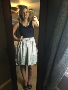 Stitch Fix - LOVE this dress! A short version of the maxi dress I have, but in a more neutral color combo which I love.  And it wouldn't need to be hemmed! At least I think. Consider this REQUESTED! :)